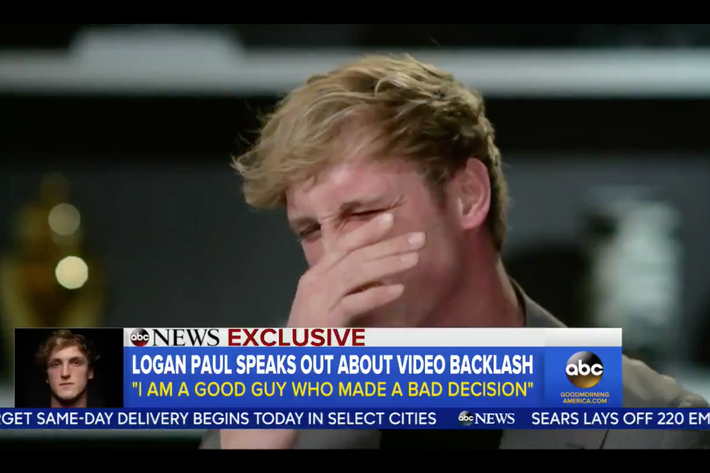 YouTuber In Exile Logan Paul Did His First Televised Interview With Good  Morning Americau0027s Michael Strahan As Part Of His Continued Attempt To  Rehabilitate ...