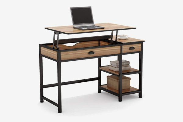 Tribesigns Rustic Lift Top Computer Desk