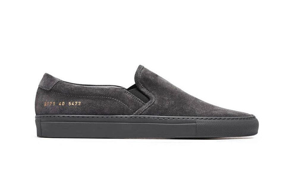 Woman by Common Projects Slip On in Suede Sneakers