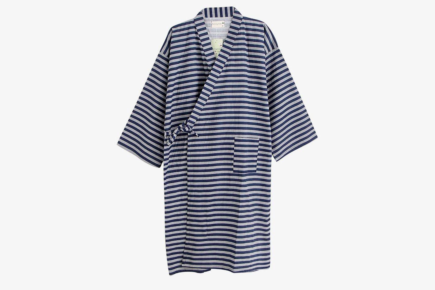 LONTG Sleepwear Plus-Size Cotton Robe Kimono