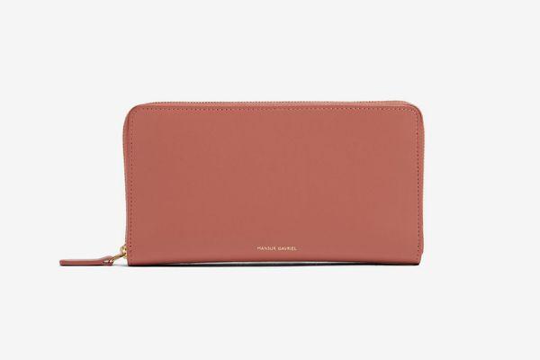 Mansur Gavriel Zip-Around Leather Wallet