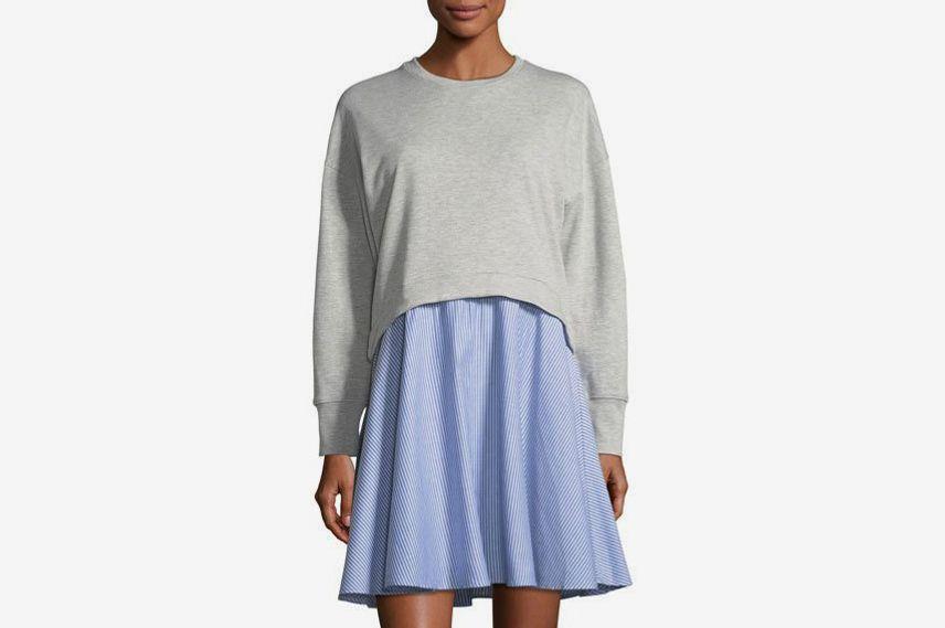 Neiman Marcus Sweatshirt Twofer Dress