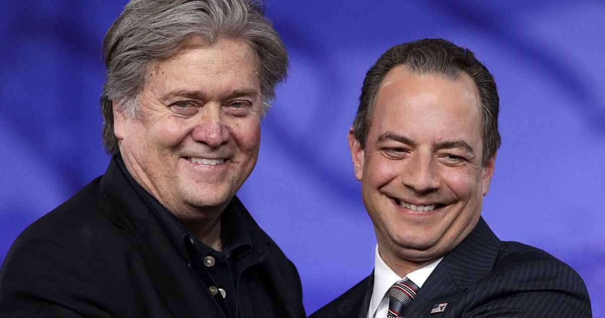 Both Bannon and Priebus Are Reportedly on Trump's Chopping Block