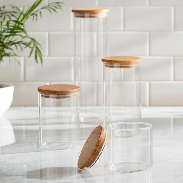 Rebrilliant Boyland 4-Piece Storage Jar Set