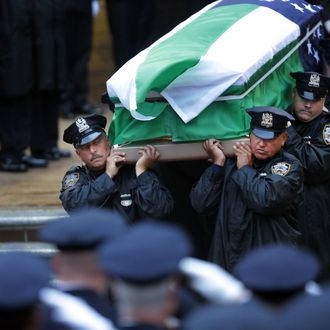 Funeral Held For NYC Police Officer Killed In The Line Of Duty