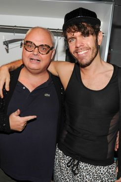 Mickey Boardman and Perez Hilton.