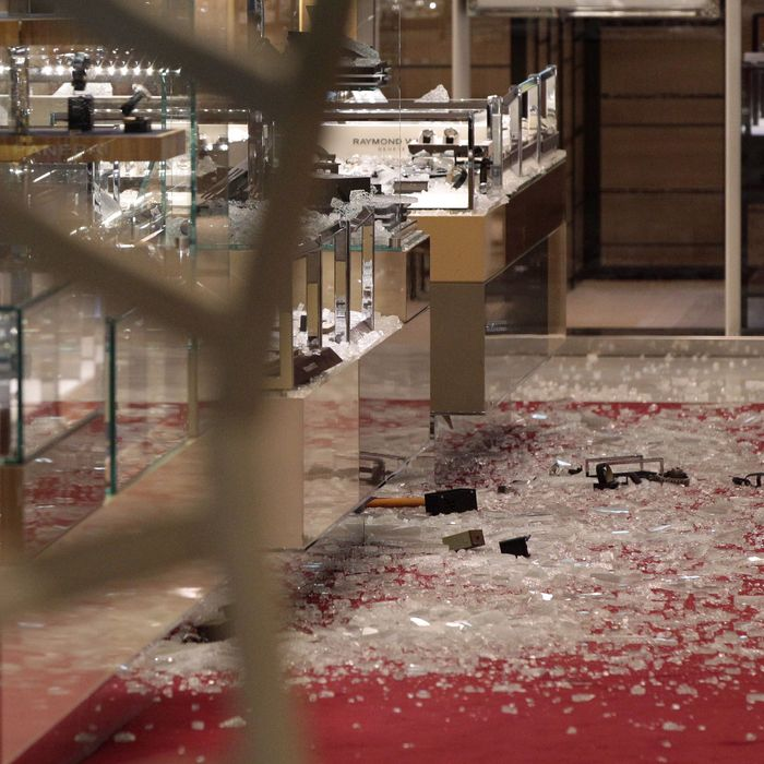 Scene of the crime at Selfridges.