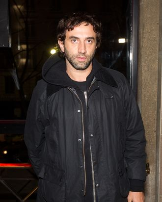 Riccardo Tisci attends the Prada 24 Hours Museum Launch by Francesco Vezzoli during Paris Fashion Week Haute-Couture Spring/Summer 2012 at Palais d'Iena on January 25, 2012 in Paris, France.