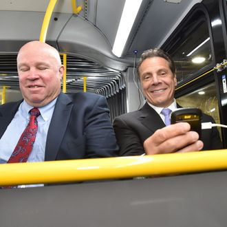 Governor Andrew M. Cuomo and MTA Chairman Tom Pendergast