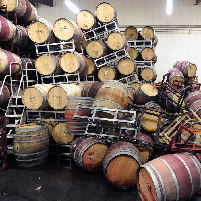 The scene at Bouchaine Vineyards in Napa.