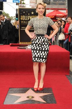 HOLLYWOOD, CA - MAY 02:  Scarlett Johansson attends Hollywood Walk Of Fame Star Ceremony