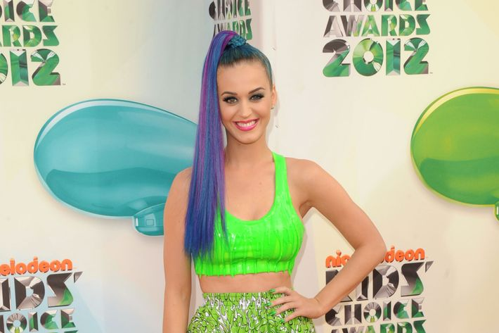 Singer Katy Perry attends Nickelodeon's 25th Annual Kids' Choice Awards  held at Galen Center on March 31, 2012 in Los Angeles, California