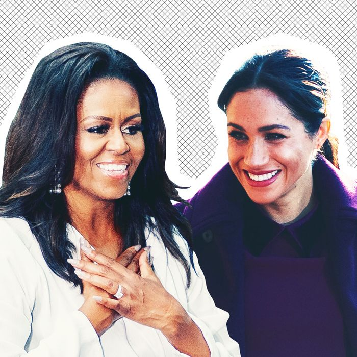 Michelle Obama and Meghan Markle.