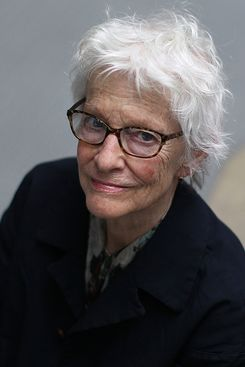 CAMBRIDGE, MA - APRIL 18: Pioneering artist and MIT professor emerita Joan Jonas, 77, who this week was named to represent the United States at the 56th Venice Biennale, the world's most prestigious exhibition of contemporary art. Jonas was photographed at the MIT List Visual Arts Center. (Photo by Suzanne Kreiter/The Boston Globe via Getty Images)