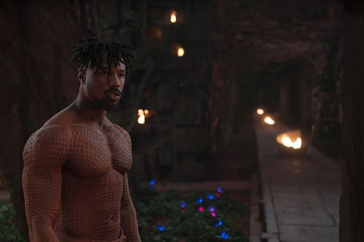 Michael B. Jordan in Black Panther.