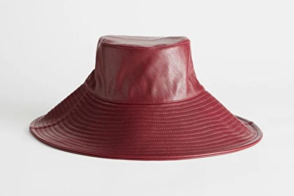 & Other Stories Faux Leather Wide-Brim Bucket Hat