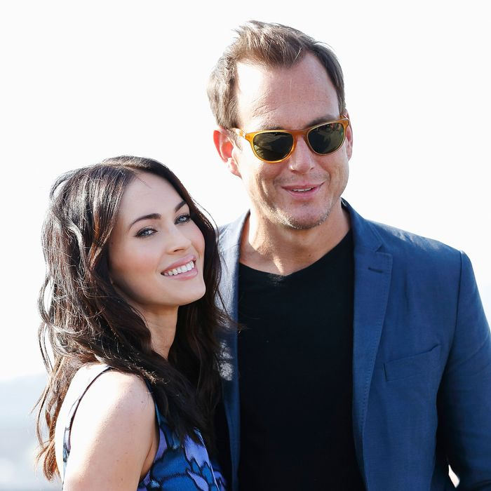 Non-turtles Megan Fox and Will Arnett