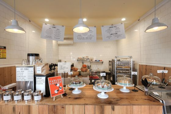 Petee's sells Parlor Coffee and fresh juices.