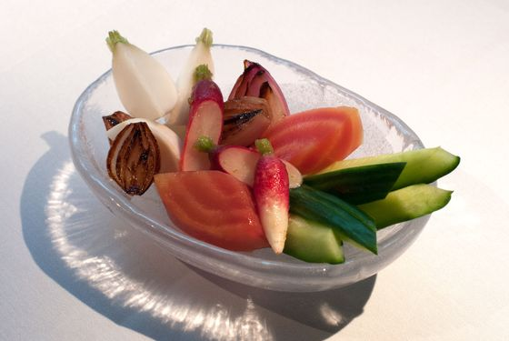 Lightly cured garden vegetables.