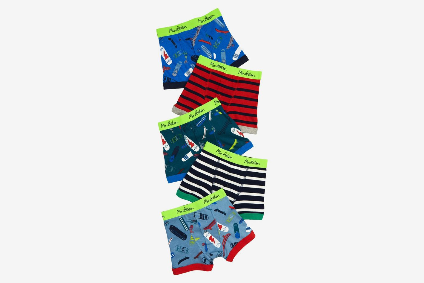 Mini Boden 5-Pack Boxer Briefs