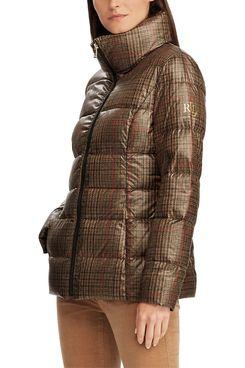 Lauren Ralph Lauren Quilted Plaid Down Coat