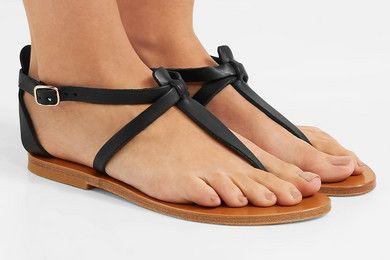 K Jacques St Tropez Cedre leather sandals