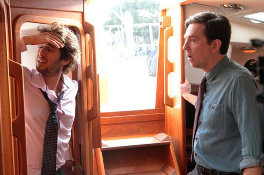 "THE OFFICE -- ""The Boat"" Episode 907 -- Pictured: (l-r) Josh Groban as Walter Jr, Ed Helms as Andy Bernard"