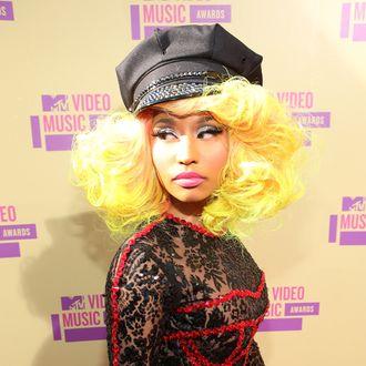 LOS ANGELES, CA - SEPTEMBER 06: Rapper/singer Nicki Minaj arrives at the 2012 MTV Video Music Awards at Staples Center on September 6, 2012 in Los Angeles, California. (Photo by Christopher Polk/Getty Images)