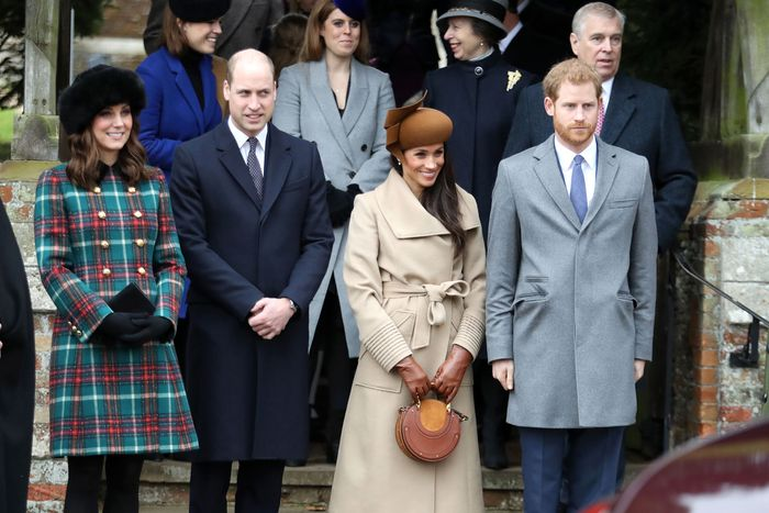 Kate Middleton, Prince William, Meghan Markle, and Prince Harry.