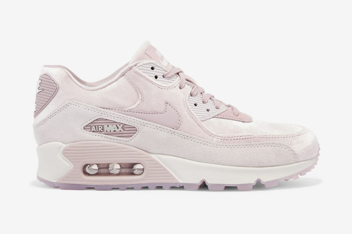san francisco 80aa9 033a6 If You Want Something Pretty. Nike Air Max 90 LX velvet and suede sneakers