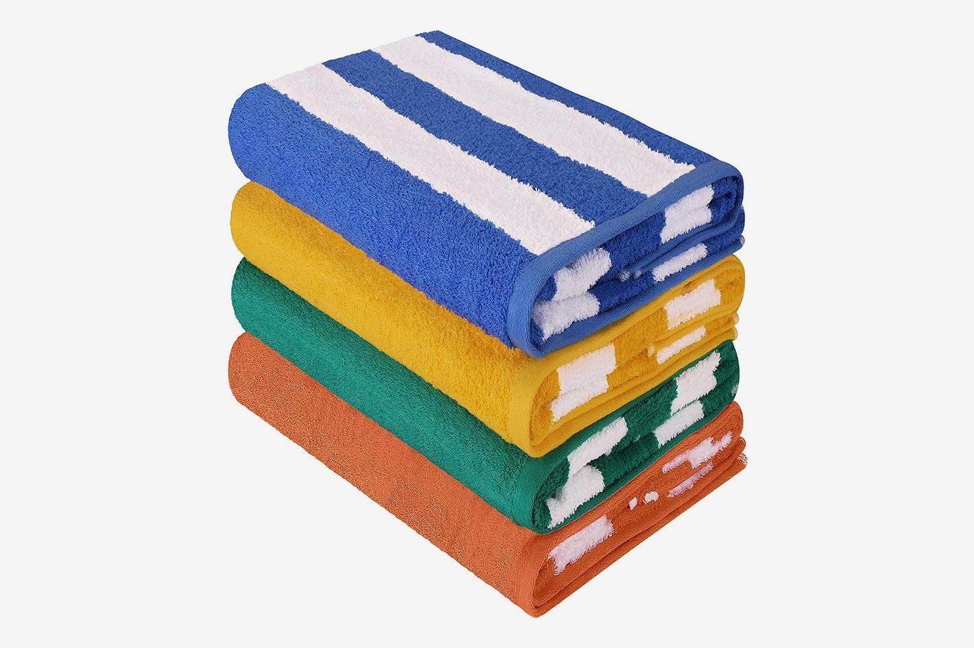fdc8705ec6d2fc Utopia Towels Cabana Stripe Beach Towels (4 Pack, Multicolor)