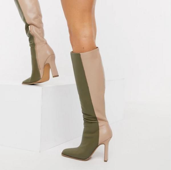 Asos Design Citrus High-Heeled Knee Boots