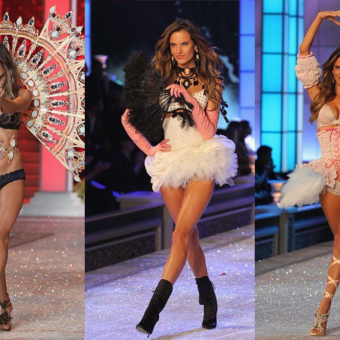 Alessandra Ambrosio in the Victoria's Secret Fashion Show last month.