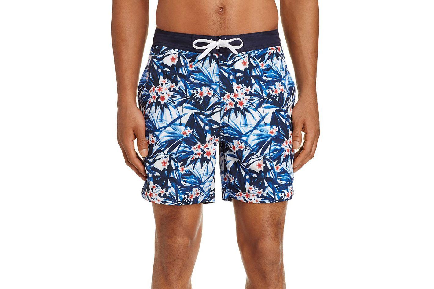 Michael Bastian Gray Label Floral Swim Shorts