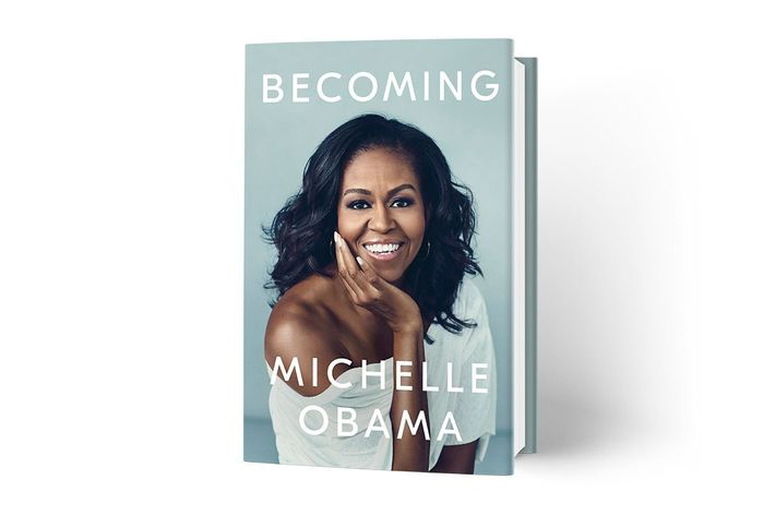 Michelle Obama's memoir cover, Becoming.