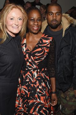 Ricky Lauren, Chirlane McCray, and Kanye West at the Ralph Lauren show.