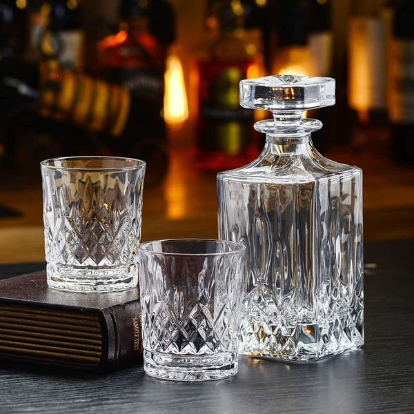 Whiskey Decanter and Glass Set