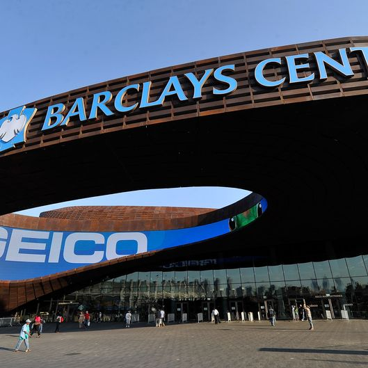 NEW YORK, NY - OCTOBER 05:  Exterior views of the Barclays Center on October 5, 2012 in the Brooklyn borough of New York City.  (Photo by Stephen Lovekin/Getty Images)