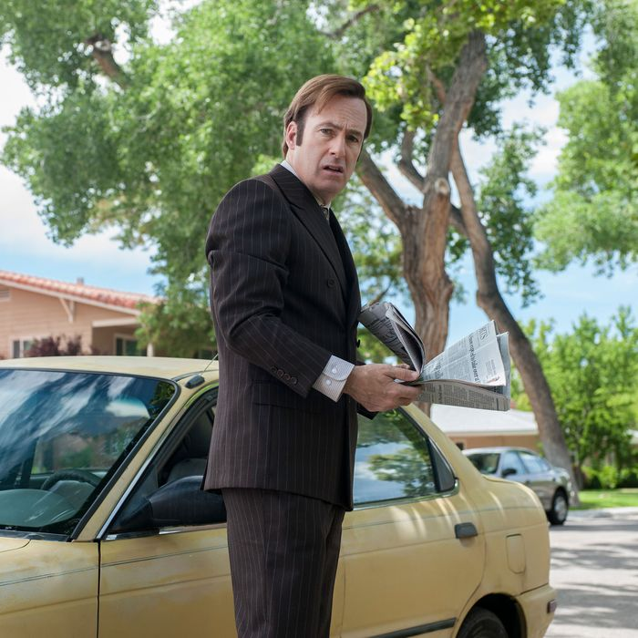 Bob Odenkirk as Saul Goodman - Better Call Saul _ Season 1, Episode 4 - Photo Credit: Lewis Jacobs/AMC