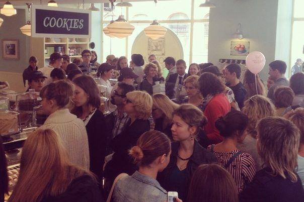 Yesterday's cupcake-craving masses.