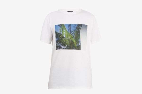 A.P.C. Palm Tree-Print Cotton T-shirt