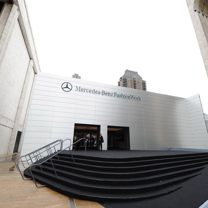 Fashion Week's Lincoln Center Facade.