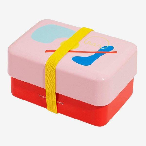 Poketo X Takenaka Limited-Edition Pink + Red Bento Box