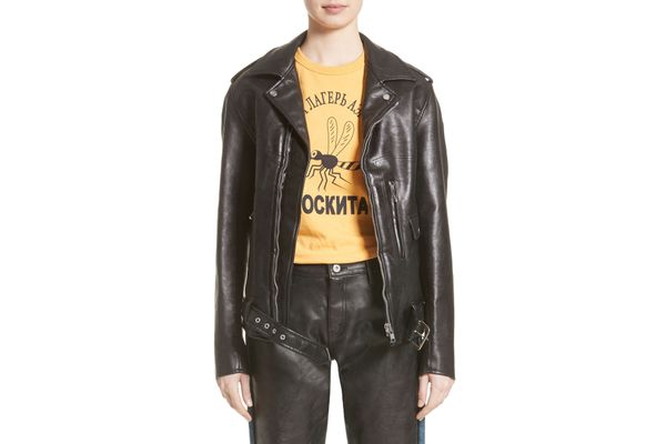 Junya Watanabe Faux Leather Moto Jacket