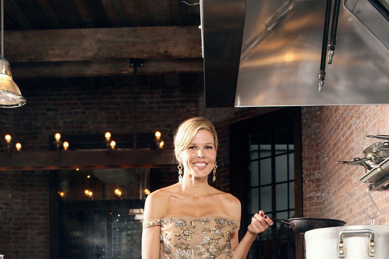 Stephenson in the kitchen of her favorite neighborhood restaurant, Colonie.