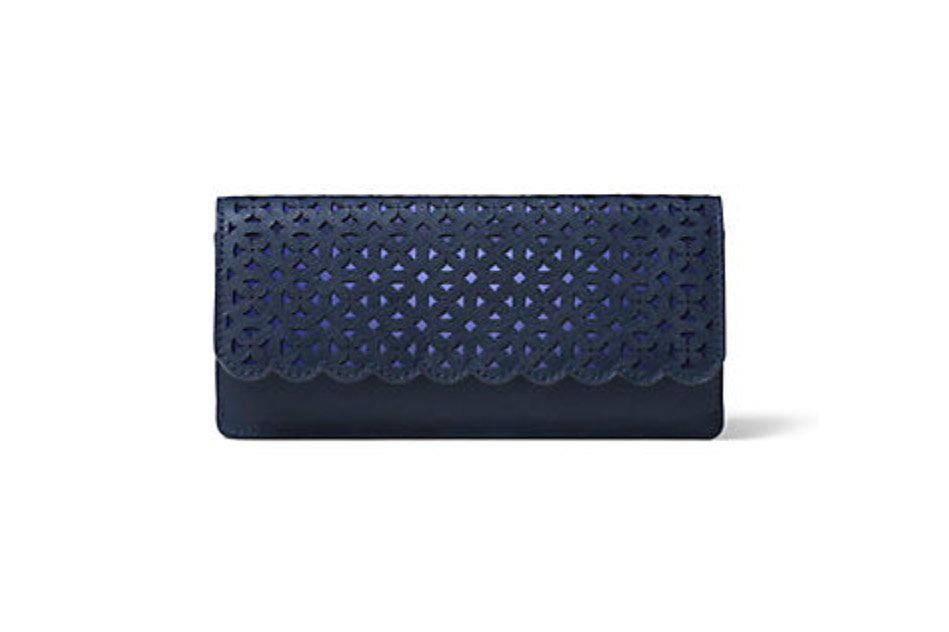 Jet Set Travel Perforated Leather Wallet