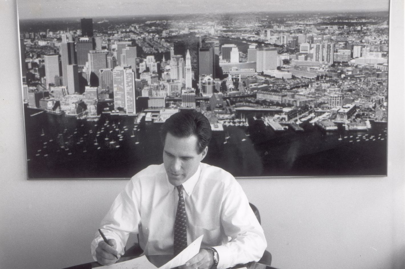Mitt Romney, head of Bain & Company, Inc pictured on November 10 1993.
