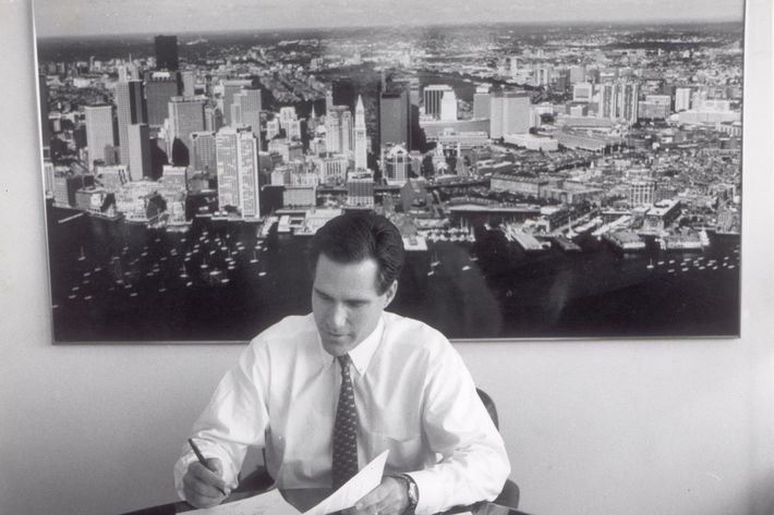Mitt Romney, head of Bain & Company, Inc pictured on November 10 1993.