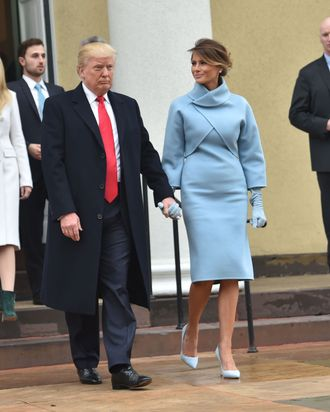 The Rumors Were True Noted Hillary Supporter Ralph Lauren Is Indeed Dressing Melania Trump For Inauguration This Morning Incoming First Lady Wore
