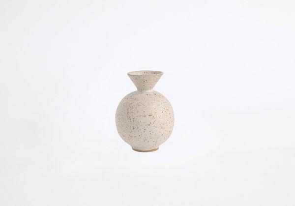 Object & Totem Speckled Trumpet Bud Vase